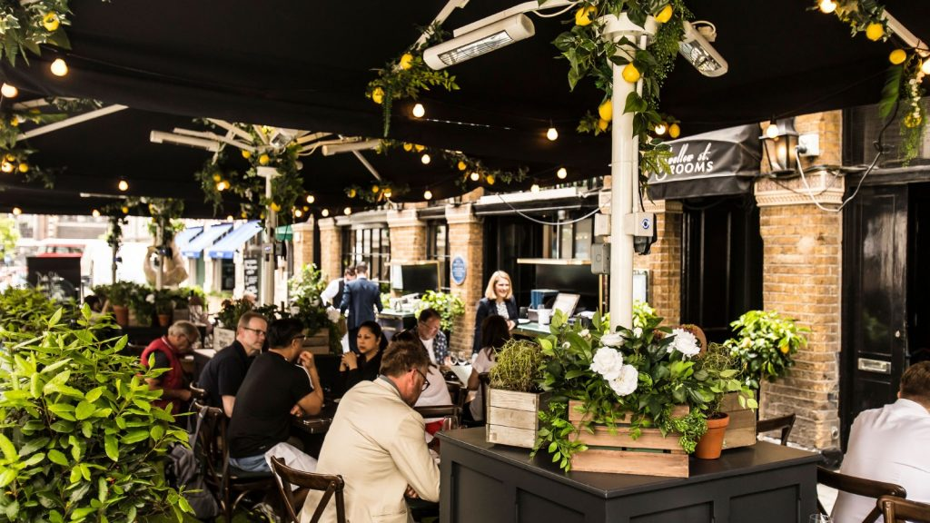 Plymouth Terrace at Bentley's Oyster Bar London